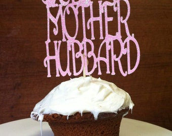 Old Mother Hubbard Cupcake Topper.