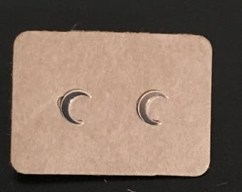 Tiny Crescent moon earrings