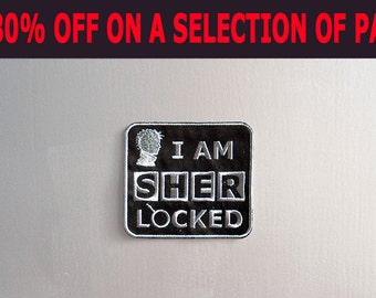 SALE -30% OFF - Inspired *Sherlock*, sew on Patch