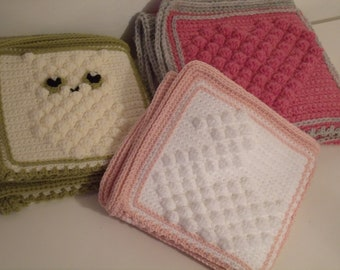 Crochet Blanket Collection - Owl, Heart & Swan Bobbles - INSTANT DOWNLOAD PDF from Thomasina Cummings Designs