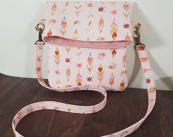 Lily Cross Body bag PDF Sewing Pattern - tote bag, fold over bag, handbag, tablet case, kids bag, bag sewing tutorial