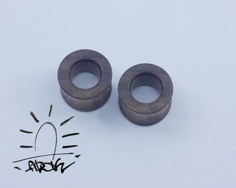 Casual  ear tunnels, plugs wood plugs, wooden tunnels brown ear tunnels - plugs and tunnels 10mm 00g 22mm 24mm 25mm 30mm 32mm 34mm 36mm 50mm