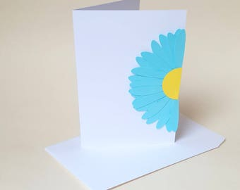 """The """"Blue Daisy"""" card with its envelope"""