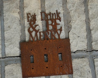 Eat Drink and Be Merry Triple Light Switch Cover