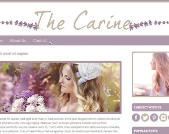 Premade Blogger Template –  Instant Download - The Carine – Blogger template - Blogger theme - Blog design - Blogger blog template