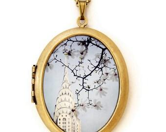Chrysler Building - Photo Locket - New York Architecture Photo Locket Necklace