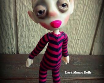 Gothic Art Doll, OOAK Handmade Dark Manor Doll: Emily