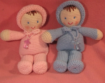 Crocheted Tiny Tot Baby Twins