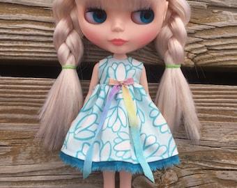 Blue Tulip #2 Blythe Dress