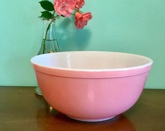 Pyrex Pink 403 Nesting Bowl, Pyrex Pink Flamingo Mixing Bowl, Vintage Pink Pyrex 2 1/2 Quart Bowl