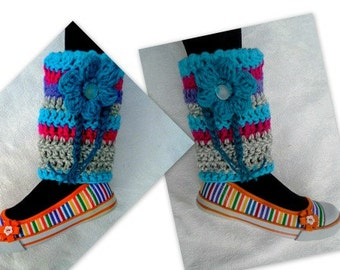Crochet Pattern, Legwarmers, Many Colors Legwarmers, Make any size, for kids, for women, #872, accessories, clothing