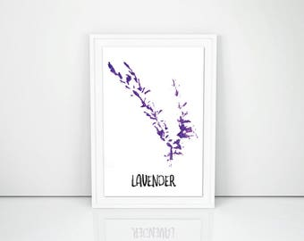 Lavender Herb Wall Art Printable