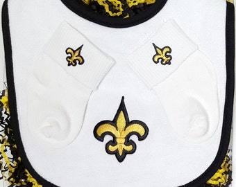 New Orleans Baby Bib and Socks Gift Set