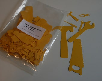 Construction Party Table Scatters/Confetti - TOOLS - 150 pieces