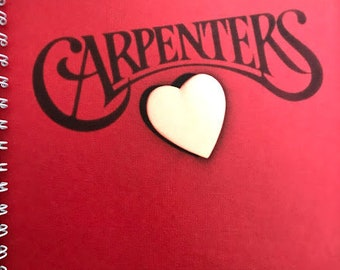 for The Carpenters A Song For You /  Karen Richard soft rock FAN /  Album Cover Notebook /rare Vinyl!