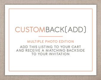 INVITATION BACKING (2+ Photos) - Custom Add-on