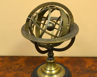 Brass Globe With Zodiac