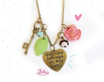 kawaii vintage heart necklace