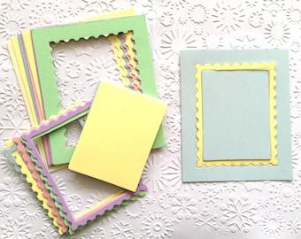 15 pastello timbro cornice Die tagli con inserti per progetto di carta che fa Scrapbooking carta craft