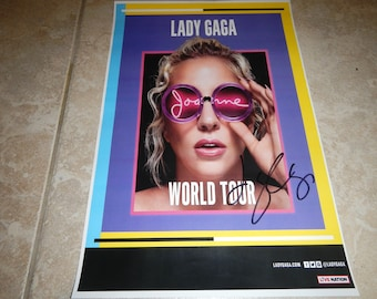 Lady Gaga Joanne Tour signed poster 11x17