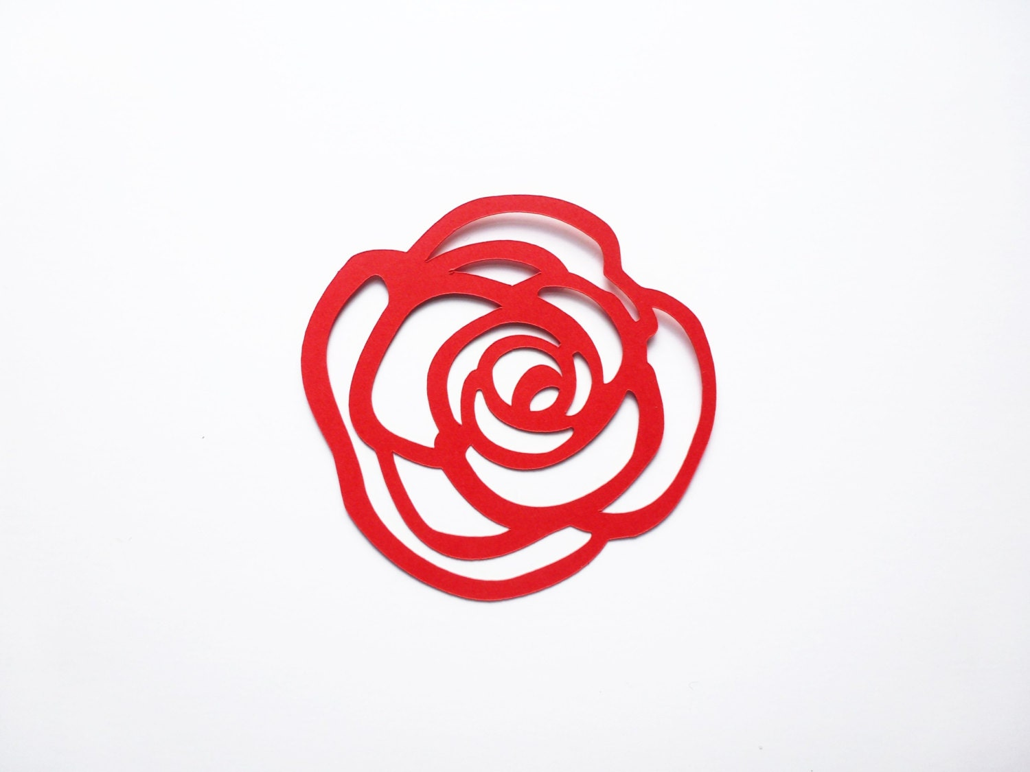 Rose Punch Set Of 10 Rose Outline Flower Paper Punches
