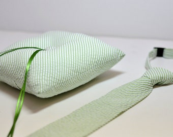 Simply Modern Ringbearer Set Lime Green Seersucker LOTS of COLORS Available