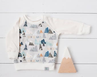 Baby sweatshirt, toddler sweatshirt, organic baby clothes, adventure baby