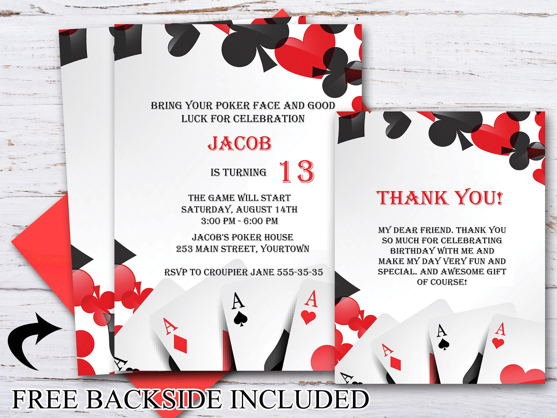 Fine Casino Party Invitation Gallery Invitation Card Ideas - Casino birthday invitation templates