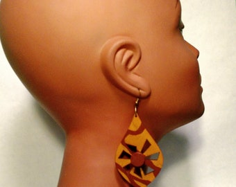 Geometric Earrings|Handmade Earrings|Earrings for Women|Dangle Earrings|Afrocentric Earrings|mPERFEKtion Earrings by Crittique|mPER175