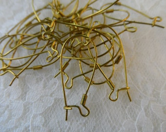"Large raw brass kidney wires,1 &1/8th"",24pcs-CMP111"