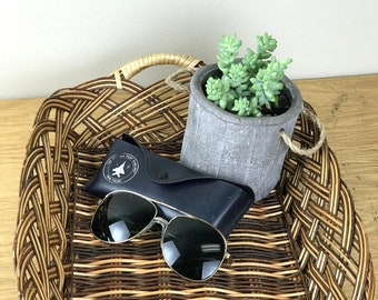 Vintage Aviator Sunglasses with Case