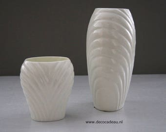 Oxford bone China set of two porcelain vases.