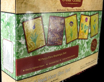 Marbling (Ebru) Painting Kit (8 Colors) (Koza) Set