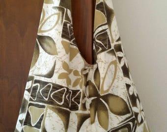 Cloth bag slung across the sea