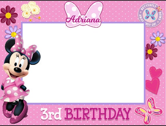 Character or themed Birthday Sticker for Frame, Frames, Minnie Mouse ...