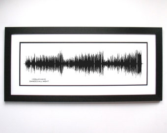 I Could Have Danced All Night - Broadway Musical Canvas Art - Sound Wave from Musical Soundtrack