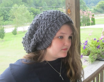 Charcoal Gray Slouchy Beanie