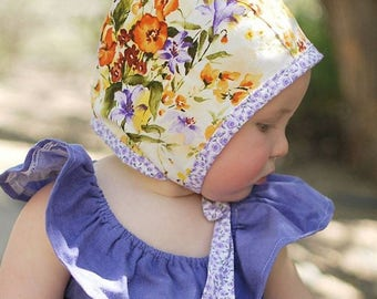 Baby Bonnet, Spring Baby Outfit, Easter Baby Outfit, Toddler Easter Bonnet, Baby Easter Bonnet, Newborn Bonnet