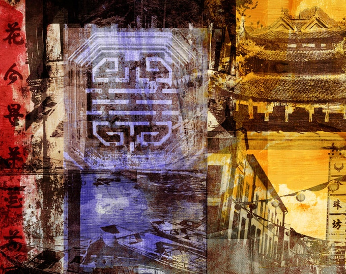 Vietnam Mixed Media II by Sven Pfrommer - Artwork is ready to hang with a solid wooden frame