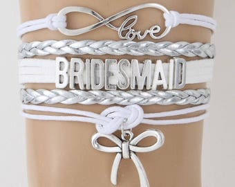 Bridesmaid Adjustable Wrap Bracelet Bridal Wedding