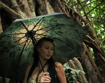 SPRING Crystalotus print Umbrella, shade umbrella, wedding umbrella, festival umbrella, parasol, beach umbrella