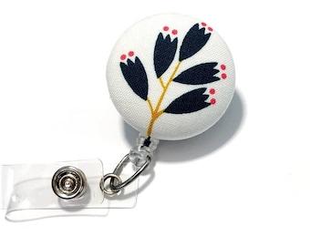 RN LPN Flower Badge reel floral badge reel flower id badge holder retractable badge holder nurse badge reel badge reels name badge holder
