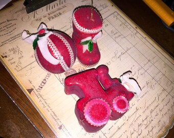 Vintage Christmas Ornament Set