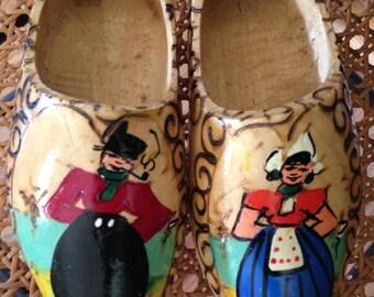 Vintage Dutch Souvenir ~ wooden shoes from Holland