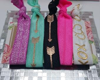 boho chic hair ties, hair ties, boho chic bracelets, elastic hair ties,