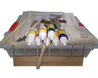Dodin's Marbling Kit 7C Plus Ebru Set for Paper Fabric 3D Supplies Tools How to Guide DIY