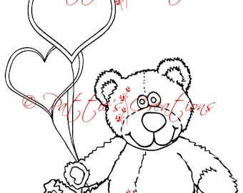 Bear Love With Balloons
