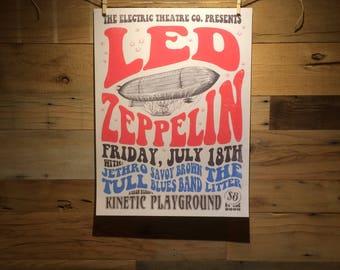 18x24 Led Zeppelin Concert Poster Concept