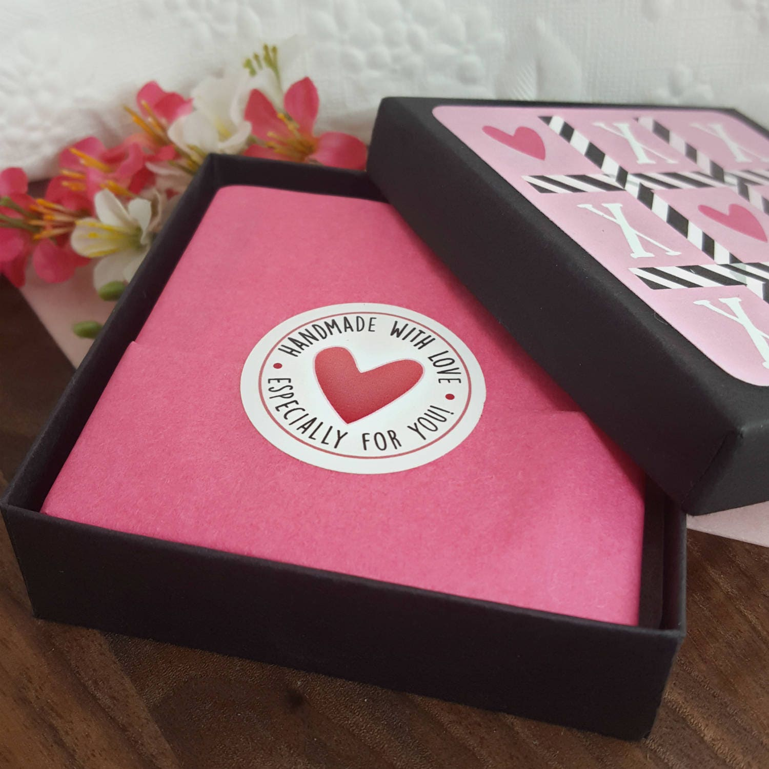 Tic Tac Toe Heart Gift Wrap Valentines Day Gift Box Option