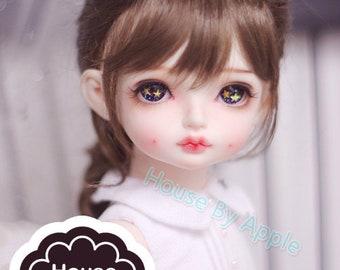 BJD Cute Fishtail Hair (3 Colour) Imitation Mohair Wig for  1/3 SD 1/4 msd 1/6 yosd 1/8 lati yellow FL pukifee doll wig